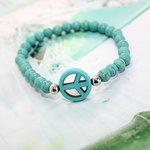 Kralen 'peace' armband