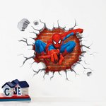 3D muursticker/raamsticker 'spiderman'