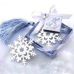 Boekenlegger sneeuwvlok in cadeaudoosje