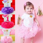 Cake Smash eerste verjaardag babykleding set