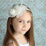 Baby/kinder haarband/hoofdband roos