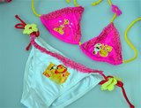 Halter bikini 'bloem' mt.110/116