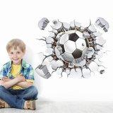 3D muursticker 'voetbal'