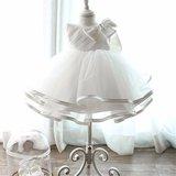 Luxe baby doopjurk/bruidsmeisje met strik