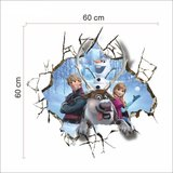 3D muursticker Frozen 'familie'
