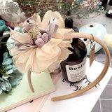 Diadeem/haarband bloem met beer