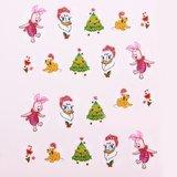 Kindernagel decoratiestickers  kerst