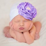 Newborn prinses babymutsje met strass bloem