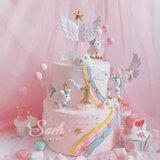 Verjaardagstaart/geboortetaart taartstekers ballon