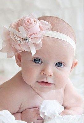 Haarband/hoofdband parel roos