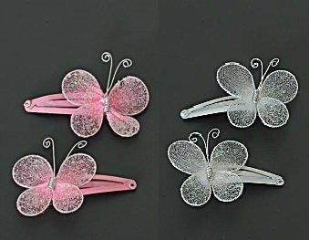 Haarschuifjes/clips vlinders 2st.