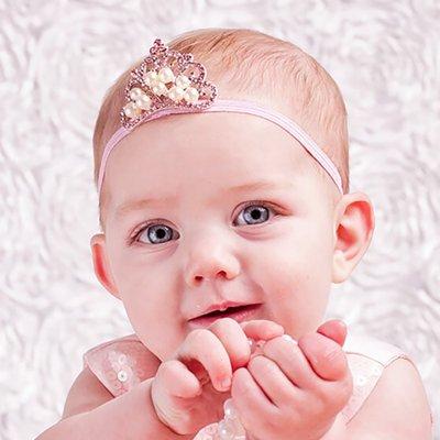 Baby hoofdband kroon met strass