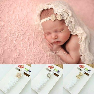 Baby/kinder hoofdband met kant en strass