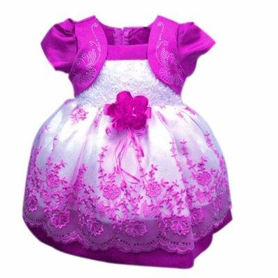 Prinses babyjurk/feestjurk paars mt. 12 mnd