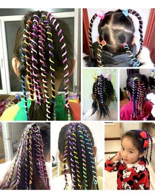 Elastische spiraal krullers/haarbanden