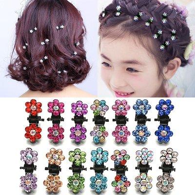 Mini haarklemmen/haarclips bloem