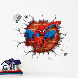 3D muursticker/raamsticker 'spiderman'