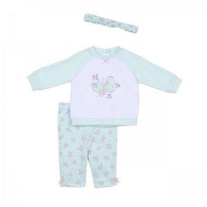 Little Me babykleding set met haarband mt.68