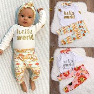 """Babykleding sets 3 dlg  """"Hello world"""" mt.50/56"""
