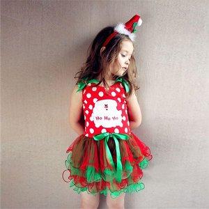 peuter/kinderjurk mouwloos kerstjurkje