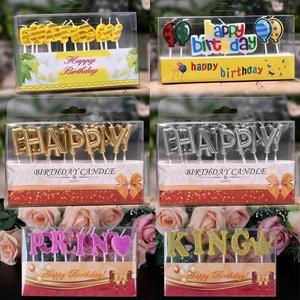 Baby/kinderverjaardag taartkaarsen met tekst