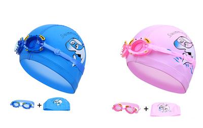 Peuter/kinder badmuts met duikbril
